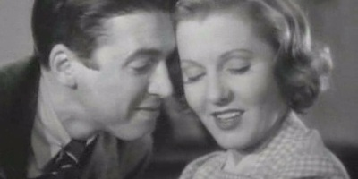 James Stewart and Jean Arthur